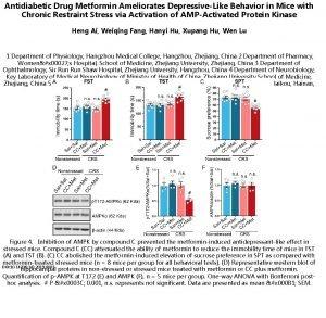 Antidiabetic Drug Metformin Ameliorates DepressiveLike Behavior in Mice