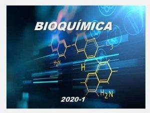 BIOQUMICA 2020 1 INTRODUO BIOQUMICA Cincia que estuda