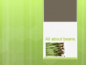 All about beans Different types of beans You