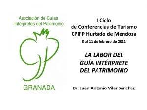 I Ciclo de Conferencias de Turismo CPIFP Hurtado