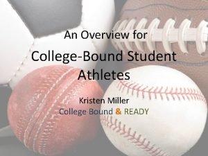 An Overview for CollegeBound Student Athletes Kristen Miller