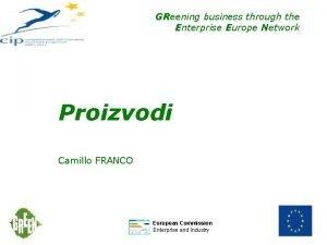 GReening business through the Enterprise Europe Network Proizvodi
