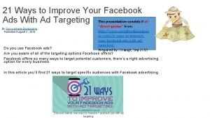 21 Ways to Improve Your Facebook Ads With