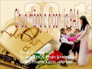 C gio Long Vn Tr ng THCS Phan