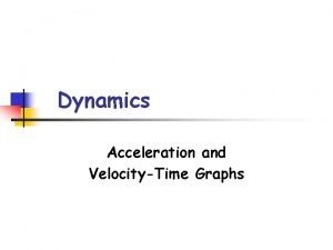 Dynamics Acceleration and VelocityTime Graphs Acceleration Success Criteria