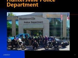 Huntersville Police Department 2282021 1 Huntersville Police Department