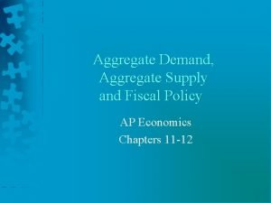 Aggregate Demand Aggregate Supply and Fiscal Policy AP