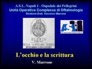 A S L Napoli 1 Ospedale dei Pellegrini