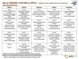 Men FEBRER 2020 MALLORCA ALIMENTACION COMEDORES ESCOLARES SL