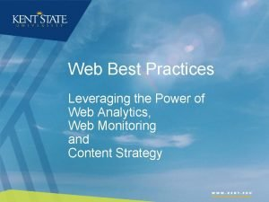 Web Best Practices Leveraging the Power of Web