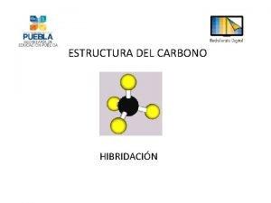 ESTRUCTURA DEL CARBONO HIBRIDACIN Estructura del Carbono El