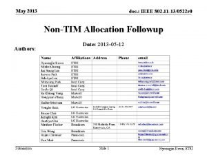 May 2013 doc IEEE 802 11 130522 r