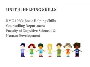 UNIT 4 HELPING SKILLS KMC 1083 Bacic Helping