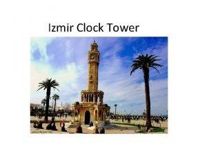 Izmir Clock Tower Saat kulesi clock tower located