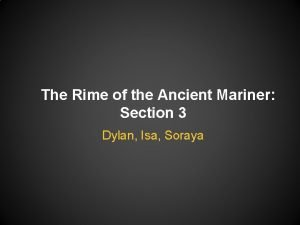 The Rime of the Ancient Mariner Section 3