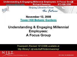 1 Understanding Engaging Millennial Employees A Focus Group
