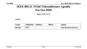 Oct 2020 doc IEEE 802 11 201561 r