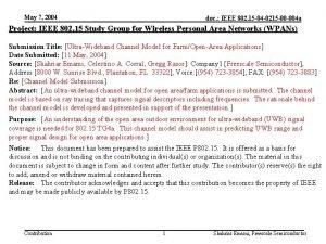 May 7 2004 doc IEEE 802 15 04