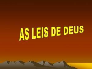 OS DEZ MANDAMENTOS DEUS CHAMOU MOISS NA MONTANHA
