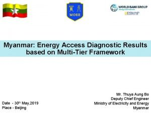 Myanmar Energy Access Diagnostic Results based on MultiTier