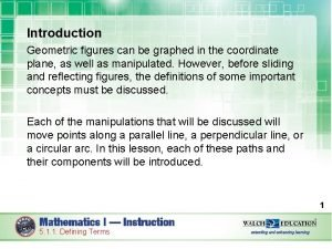 Introduction Geometric figures can be graphed in the