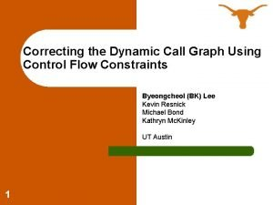 Correcting the Dynamic Call Graph Using Control Flow