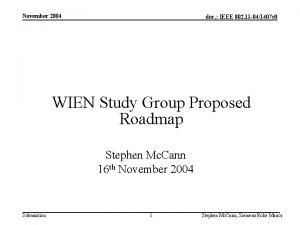November 2004 doc IEEE 802 11 041407 r