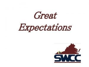 Great Expectations Great Expectations An initiative to help