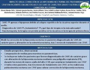 IMPACTO EN LA CORRECIN DE LA HIPOXEMIA NOCTURNA