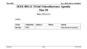 Mar 2020 doc IEEE 802 11 200499 r