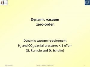 Dynamic vacuum zeroorder Dynamic vacuum requirement H 2
