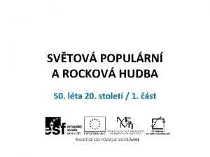 SVTOV POPULRN A ROCKOV HUDBA 50 lta 20