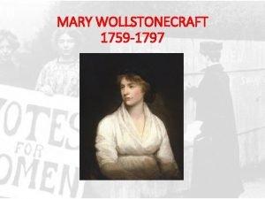 MARY WOLLSTONECRAFT 1759 1797 241789 IN UN SOBBORGO
