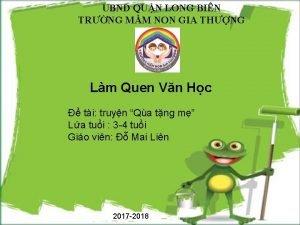 UBND QUN LONG BIN TRNG MM NON GIA