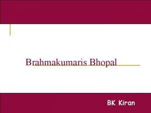 Brahmakumaris Bhopal BK Kiran Spirituality in Action Spirituality