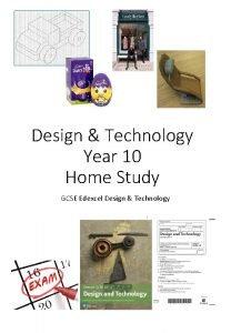 Design Technology Year 10 Home Study GCSE Edexcel