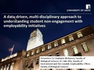 A datadriven multidisciplinary approach to understanding student nonengagement