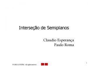 Interseo de Semiplanos Claudio Esperana Paulo Roma 2002