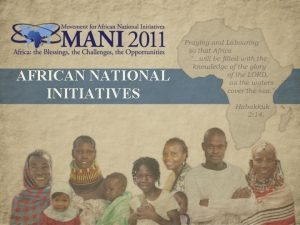 AFRICAN NATIONAL INITIATIVES Preview ANI National Mobilization Strategy