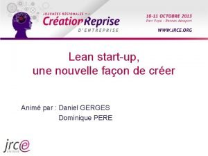 Lean startup une nouvelle faon de crer Anim