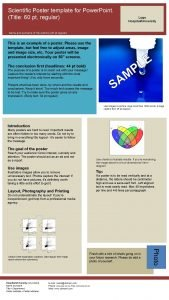 Scientific Poster template for Power Point Title 60