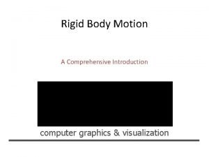 Rigid Body Motion A Comprehensive Introduction computer graphics