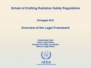 School of Drafting Radiation Safety Regulations 06 August