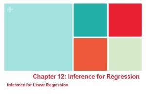 Chapter 12 Inference for Regression Inference for Linear