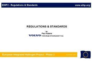 EIHP 2 Regulations Standards www eihp org REGULATIONS