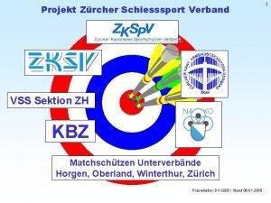Projekt Zrcher Schiesssport Verband VSS Sektion ZH KBZ