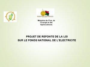 Ministre de lEau de lEnergie et des Hydrocarbures