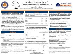 Social and Emotional Costs of OneSided Friendships in