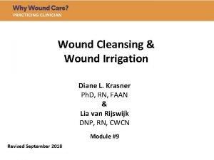 Wound Cleansing Wound Irrigation Diane L Krasner Ph