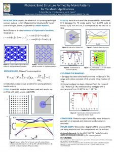 Photonic Band Structure Formed by Moir Patterns for